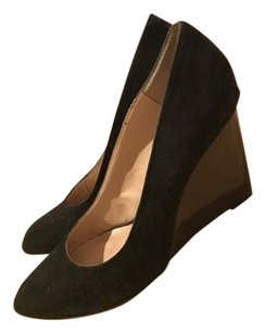 Nine West Suede Pumps Black Wedges