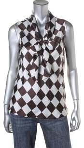 Nine West Top brown check