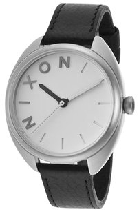 Nixon Nixon Women's Wit Black Genuine Leather White Dial