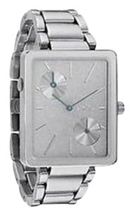 Nixon Nixon Womens The Ivy Antique Silver Stainless Steel Dual Time Watch