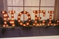 Noel Lighted Marquee Sign Letters Christmas Wedding Decor