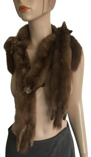 Other Vintage Four Mink Stole Faces Heads Winter Neck Warmer