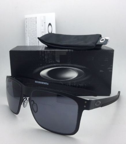 oakley matte black holbrook ci2f  Oakley New Oakley Sunglasses HOLBROOK METAL OO4123-01 Matte Black w/  Grey