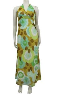 Multi-Color Maxi Dress by Odille Anthropologie Halter Floral Print Maxi