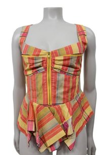 Odille Anthropologie Yellow Top Multi-Color