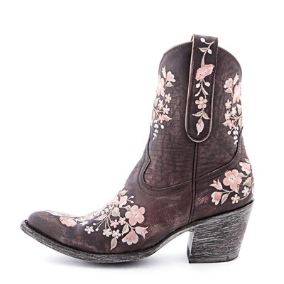 Old Gringo Floral Sora Cowboy Chocolate Brown And Light Pink Boots ...