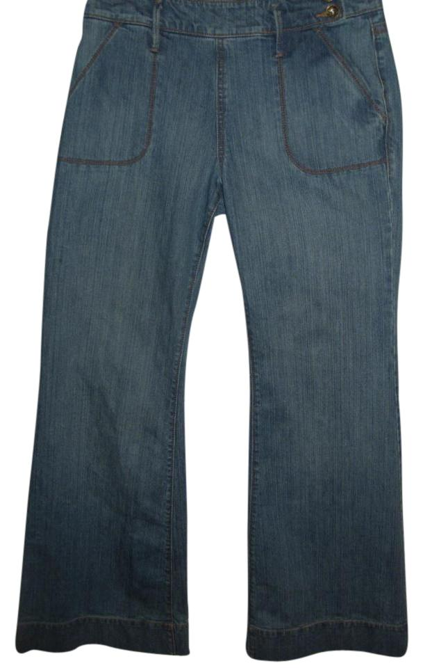 Old Navy Stretch Cotton Denim With Bell Bottom Super Flare High ...