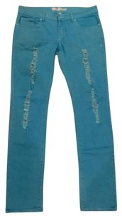 Old Skool Urban Wear Skinny Pants Bright Blue