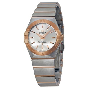Omega Constellation Brushed Quartz Silver Dial Ladies Watch 12320276002001