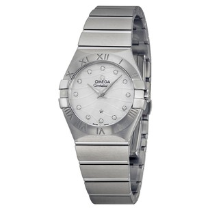 Omega Constellation Mother of Pearl Diamond Dial Ladies Watch