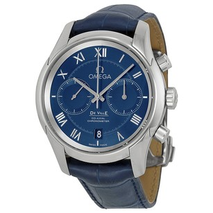 Omega De Ville Blue Dial Blue Leather Men's Watch OM43113425103001