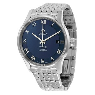 Omega De Ville Co-Axial Chronometer Blue Dial Stainless Steel Men's Watch