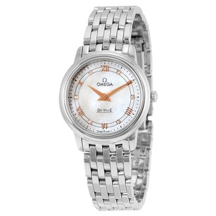 Omega DeVille Mother of Pearl Dial Stainless Steel Ladies Watch