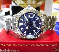 Omega Mens Omega Seamaster Professional Chronometer Stainless Steel Wave Dial Watch