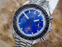 Omega Mens Swiss Omega Ltd Edition Schumacher Speedmaster Stainless Steel Watch Eb162