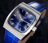 Omega Mens Vintage Swiss Omega Constellation Automatic Date Blue Dial Watch 1968 1105