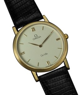 Omega Omega De Ville Mens Midsize Dress Watch - 18K Gold