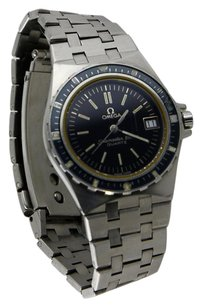 Omega Omega Men's Seamaster 120M Brushed Silver-Tone All Stainless Steel Dive Watch