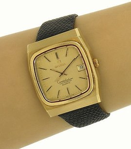 Omega Omega Vintage 14k Yellow Gold Constellation Chronometer Date Mens Watch