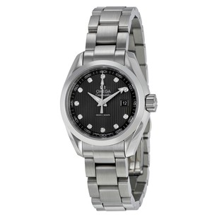 Omega Seamaster Aqua Terra Diamond Dark Grey Dial Ladies Watch