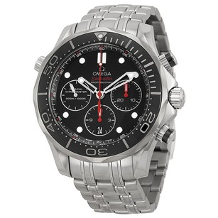 Omega Seamaster Automatic Chronograph Black Dial Stainless Steel Men's Watch