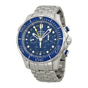 Omega Seamaster Blue Dial Stainless Steel Men's Watch