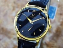 Omega Very Mens Omega Gold Filled Swiss Bumper Automatic Dress Watch C1950 Pb20