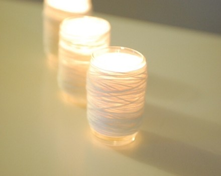 One dozen white Rose Votive Candles