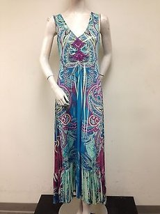Multi-Color Maxi Dress by One World Multi Color Paisley