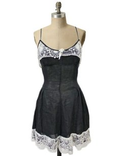 Opening Ceremony Crochet Trim Sheer Sheer Camisole Dress