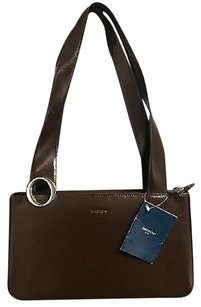 Oroton Dark Structured Rectangular Top Zip Handbag B3605 Shoulder Bag