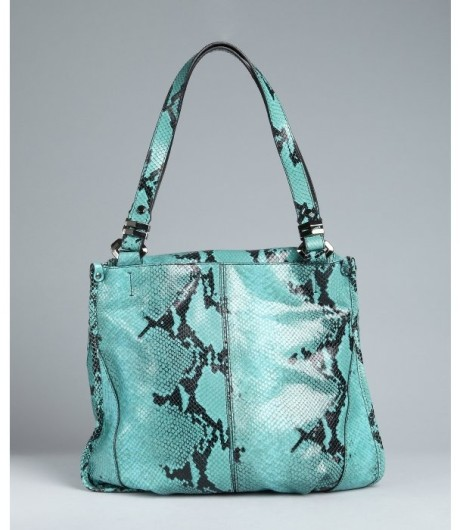 orYANY Turquoise Snake Print Lambskin Zahara Hobo Bag on Sale, 80 ...
