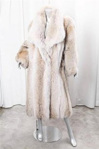 Oscar de la Renta Womens Vintage Genuine Fur Long Coat