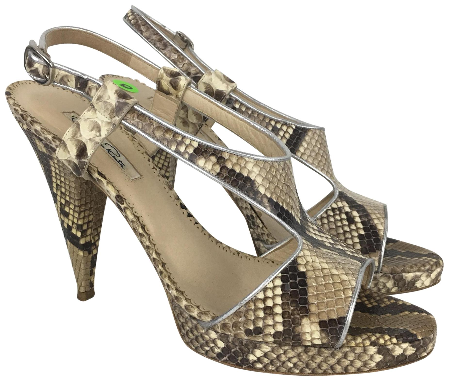 Outlet Limited Edition Oscar de la Renta Python Heels Outlet Free Shipping Authentic Latest Online WrZvyX0