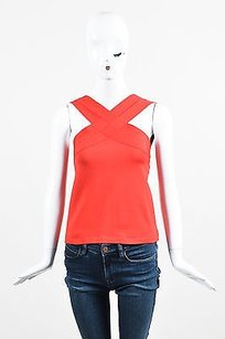 Oscar de la Renta Silk Top Red