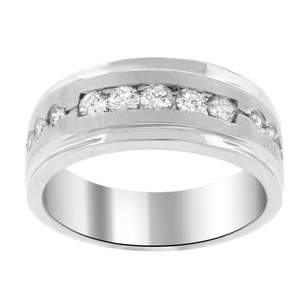 Other 0.66ct Diamond 14k White Gold Mens Band