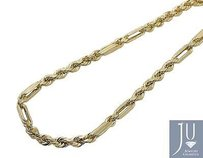 Other 10k Yellow Gold 4mm Wide Milano Rope Link Combo Chain Necklace 18-28 Inches