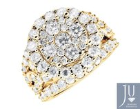 Other 10k Yellow Gold Halo Flower Twist Shank Engagement Wedding Diamond Ring 4.0ct