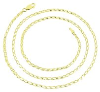 10k Yellow Gold Necklace Mens Open Franco Link Design Mm Classy Inch Womens
