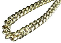 Other 10k Yellow Gold Semi Solid Miami Cuban Link 14.5 Mm Chain Box Clasp 28-36 Inches