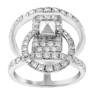 Other 1.36ct Diamond 18k White Gold Double Ring