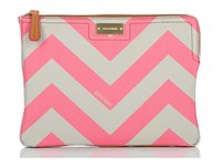 Brahmin Tech Accessories Chevron Pink Clutch