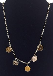Other 14k 1420 Gold Filled Bead And Circle Stamped Disc Bracelet Pendent 18