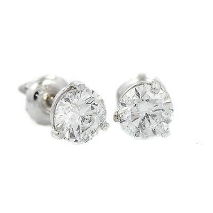 Other 14k White Gold 1.38ct Round G Si1 Enhanced Clarity Diamond Studs 1.1 Grams