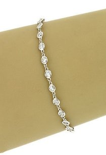 14k White Gold 1.5 Cts Diamonds By The Yard Ladies Eternity Tennis Bracelet