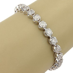 14k White Gold 15.12 Carat Diamond Tennis Bracelet