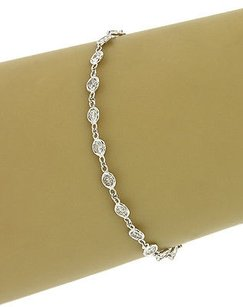 14k White Gold 1.9 Cts Diamonds By The Yard Ladies Eternity Tennis Bracelet
