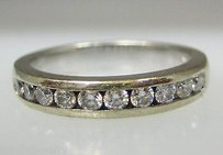 14k White Gold Diamond Band Ladies Ring