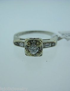 Other 14k White Gold Diamond Ladies Ring