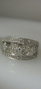 Other 14k White Gold Micro Pave Hearts Diamonds Ladies Ring